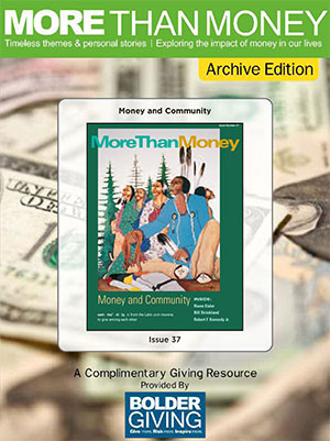 Money and Community