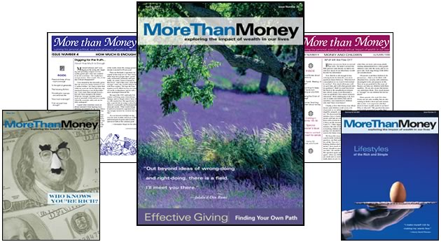 More Than Money - Timeless themes & Personal Stories - Exploring the