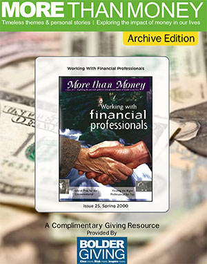 Working with Financial Professionals